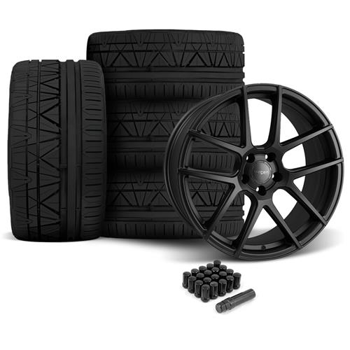 Velgen Mustang VMB5 Wheel & Tire Kit - 20x9/10.5  - Satin Black - Invo Tires (05-14)