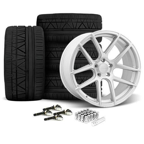 Velgen Mustang VMB5 20x9/10.5 Wheel & Nitto Invo Tire Kit Silver  (15-16)