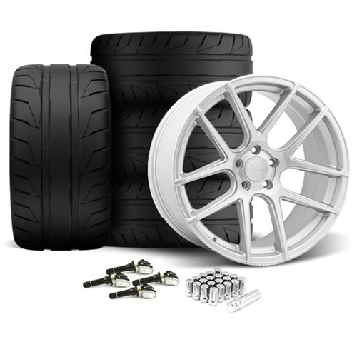 Velgen Mustang VMB5 20X9/10.5 Wheel & Nitto NT05 Tire Kit Silver (15-16)