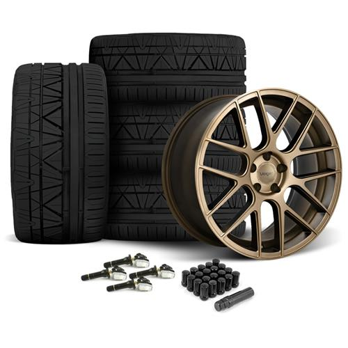 Velgen Mustang VMB7 Wheel & Invo Tire Kit - 20x9/10.5 Bronze (05-14) - Velgen Mustang VMB7 Wheel & Invo Tire Kit - 20x9/10.5 Bronze (05-14)