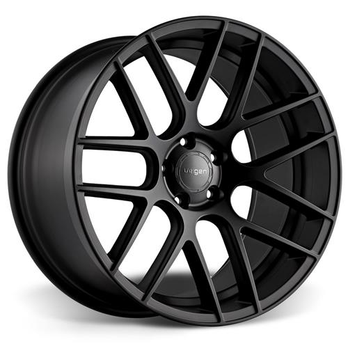 Velgen Mustang VMB7 Wheel & Kit  - 20x9/10.5  - Satin Black - Invo Tires (15-17)