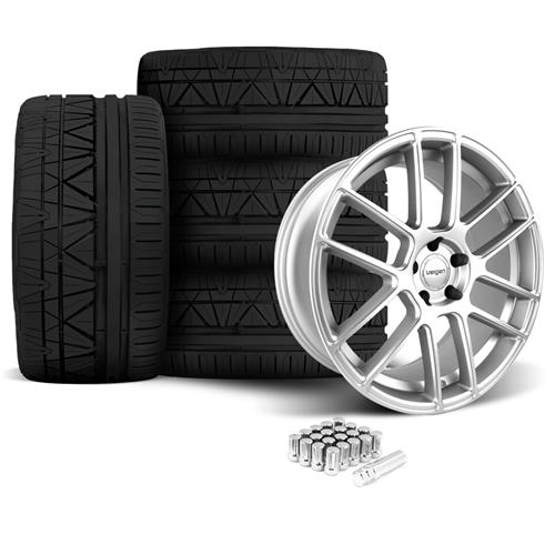 Velgen Mustang VMB7 Wheel & Nitto Invo Kit Silver (05-14)
