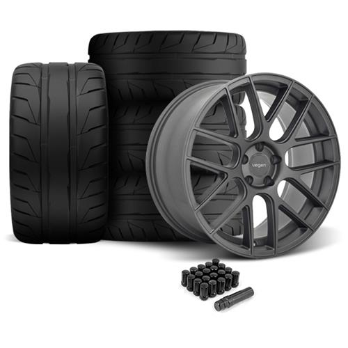 Velgen Mustang VMB7 Wheel & 305 Nitto NT05 Kit - 20x9/10.5 Matte Gun Metal  (05-14)