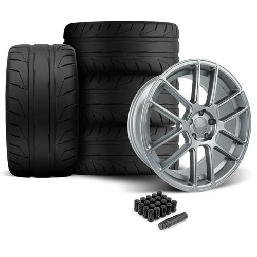 Velgen Mustang VMB6 Wheel & Tire Kit - 20x9/10.5 Matte Gunmetal (05-14) Nitto NT05