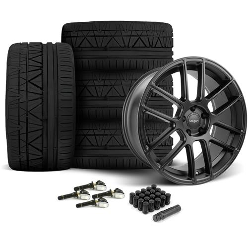 Velgen Mustang VMB6 Wheel & Tire Kit - 20x9/10.5 Satin Black (15-16) Nitto Invo