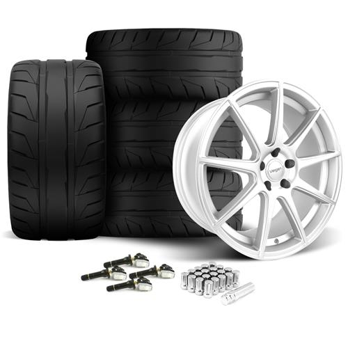 Velgen Mustang VMB9 Wheel & Nitto NT05 Tire Kit Silver (15-16)