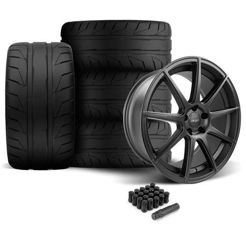 Velgen Mustang VMB9 Wheel & Nitto NT05 Tire Kit Black (05-14)