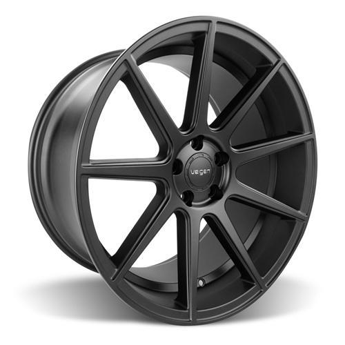 Velgen Mustang VMB9 Wheel & Nitto NT05 Tire Kit Black (15-16)
