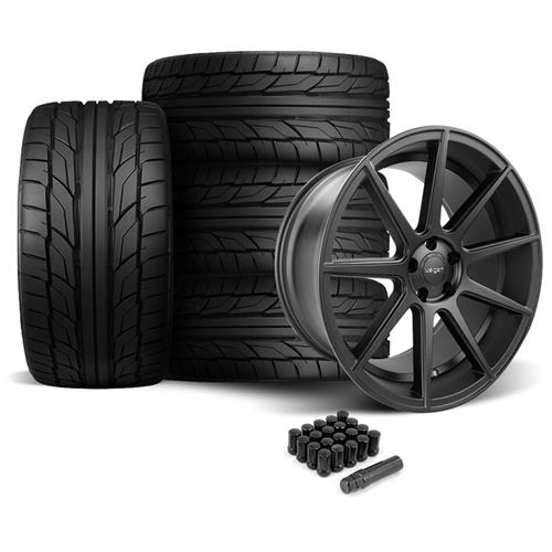 Velgen Mustang VMB9 Wheel & Nitto NT555 Tire Kit Black (05-14)