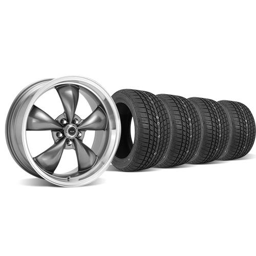 American Racing  Mustang Torque Thrust M Wheel & Tire Kit - 17x9/10.5 Anthracite (94-04) Sumitomo HTR Z