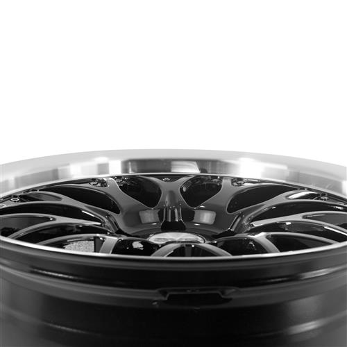 SVE Mustang Series 3 Wheel & Tire Kit - 18x9/10 Gloss Black (94-04) Sumitomo ZII